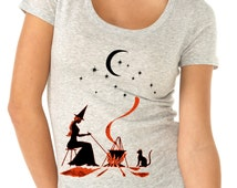 halloween shirt - halloween t shirt - witch shirt - witch t shirt - womens tshirts - halloween gifts - fall shirts -GYPSY WITCH - scoop neck