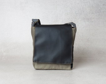 Mens Canvas Bag, mens crossbody bag, waxed canvas bag, small canvas bag, shoulder bag, small shoulder bag, fathers day gift