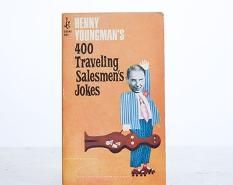 400 Traveling Salesmen's Jokes by Henny Youngman / 1967 Pocket Book / Mid Century Graphics