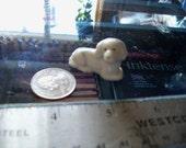vintage dog figurine white miniature