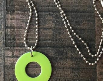 Lime Green Single Cirque Necklace