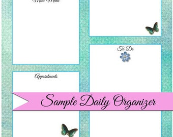 Daily Organizer Planner Template