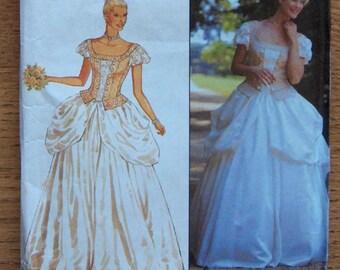 1999 simplicity pattern 9031 misses fairytale princess dress costume evening wedding special occasion sz 8-18 uncut