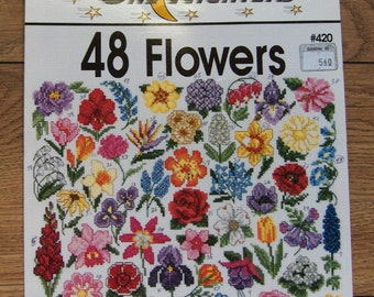 cross stitch patterns Jeanette Crew 48 flowers