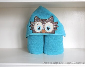 Hooded Towel- Owl