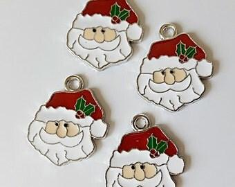 Santa Claus Enamel Charms  (5)