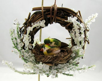 Birds in a Nest Christmas Ornament 204