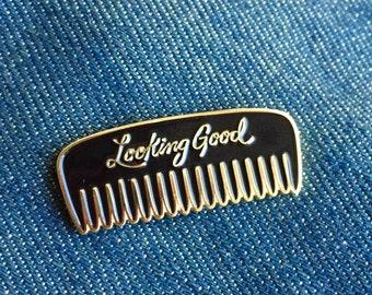 Look Good Enamel Pin