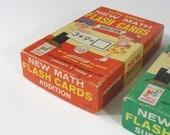 Vintage Math Subtraction and Addition Flash Cards, Milton Bradley