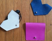 Genuine Leather and Suede Earbud Case