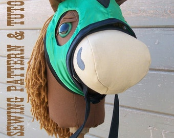 Race Mask Sewing Pattern and Tutorial for the Mustang Collection Stick Horse, Mask Only Horse Pattern Sold Seperately