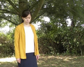 Womens Handmade Jersey Knit Cotton Cardigan XS S M L XL -Sunset