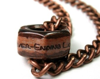 Hex Nut Necklace, Industrial Chic, Copper, Gifts for Him, Metal Jewelry For Dudes, Gifts of Love. Father's Day Gifts for Dad Husband Son