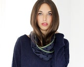 Polka dot scarf, cowl scarf, infinity scarf, hand made scarf, everlasting scarf