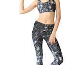Workout Set. Legging, Bra, and Tote. Star Cluster