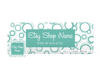 SALE 30% OFF Facebook Banner Sets Facebook Timeline Cover Facebook Cover - Teal  Social Media Cover - Teal 1-16