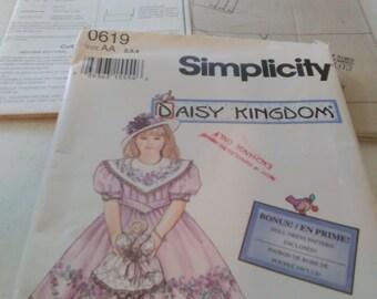 simplicity daisy kingdom pattern 0619 size aa (2,3,4)