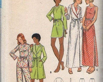 """Butterick 3209 """"Misses' Robe, Gown, and Pajamas"""" Size 14 Bust 36"""""""