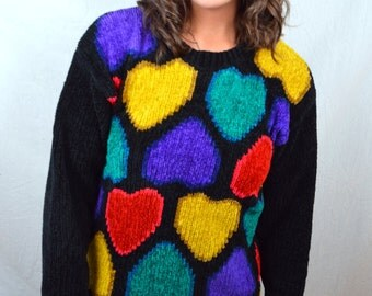 CUTE CUTE Vintage 80s Rainbow Sweater