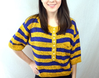 Cute Vintage Striped Summer Top - One Step Up