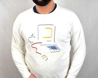 RARE Vintage 80s Macintosh Apple Computer Sweatshirt