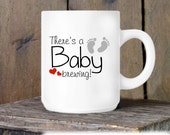 Coffee Mug, There's a Baby Brewing, Pregnancy Announement Idea, Pregnancy Reveal Coffee Cup for Grandparents or Family - Grandparents to Be