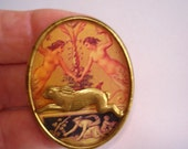 Rabbits Playing with Angels Brooch KL Design