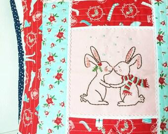 Kissing Bunnies Embroidery Pattern - PDF - Tasha Noel