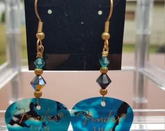 Fender Guitar Pick Earrings - Turquoise