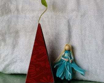 Teacher's gift , 2 inch mini Flower Fairy, Art Doll, 2 inch doll, Waldorf, Art Doll, Worry Doll