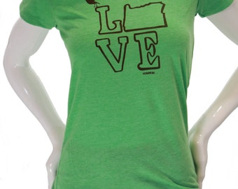 Love Oregon T Shirt| Soft Lightweight T Shirt| Hometown tees| Scoop & V neck| Slim cut| Put a bird on it| Travel t shirt| Gift for her.