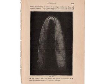 1882 COGGIA'S COMET LITHOGRAPH - original antique print - celestial astronomy - solar system - outer space galaxy super nova cosmology