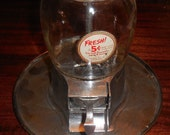 1930s Vintage Reliable Nut Co Nickel 5 Cent Vending Nuts with Tray