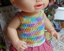 3 PDF PATTERN Crochet 12 13 inch Hasbro Baby Alive Princess Doll or New Teeth Thread Dress Drop Waist