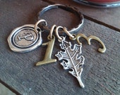SCRIPTURE KEYRING, Christian Keychain, PSALM 1:3-whose leaf does not wither, prosper, rooted, grounded, successful, gods timing, favor