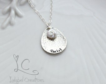 Hand Stamped Necklace, Personalized Jewelry, Name Stamped Jewelry, Hand Stamped Personalized Necklace, Custom Stamped Necklace Name Necklace