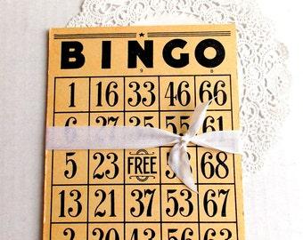 Vintage Bingo Cards / Lot of 3 / Junk Journal / Old Bingo Cards / Planner Supply
