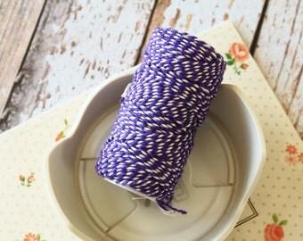Violet Purple Cotton Bakers Twine 20m