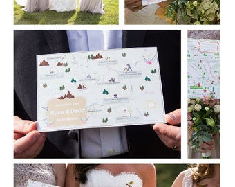 Big Sky, Montana Wedding Map. Custom Wedding Map. Wedding Map.