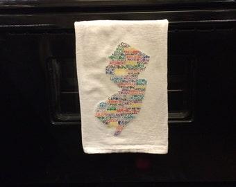 New Jersey Flour Sack Tea Towel