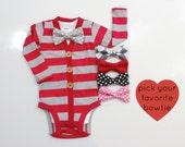 Valentine Cardigan for Baby Boy. Bowtie cardigan for Newborn Boys. Infant Boy Valentines Outfit. Valentine Clothes Boys.
