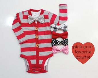 57fff4fc9cb9c ... Outfits Kid Girl Family Children. red gray cardigan for baby boy bowtie  cardigan for newborn boys infant boy valentines outfit valentine