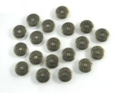 50 sets. Antique Brass Vintage Star Buttons Metal Rapid Rivet Stud Decor Fashion Accessories Diy Crafts Sizes 12 mm. STR RV BR 12 081