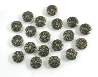 50 sets Antique Brass Vintage Star Buttons Metal Rapid Rivet Stud Decor Fashion Accessories Diy Crafts Sizes 12 mm. STR RV BR 12 081