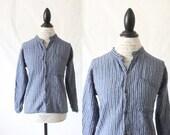 Vintage Woven Indigo Cotton Top