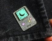 Magical Girl Gameboy Inspired Glitter Hard Enamel Pin - Ready To Ship!
