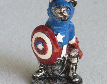 Captain America Cat MIniature