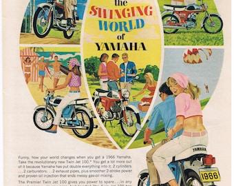 1966 Vintage Yamaha Magazine Advertisment - Motorcycles