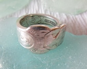 Antique Spoon Ring  Snow White And The 7 Dwarves  Size 5