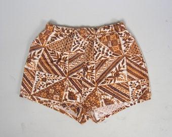 1940s CATALINA swim trunks • vintage 40s shorts • novelty swimsuit shorts